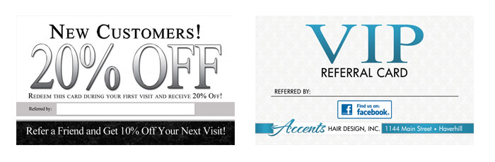 Referral business cards prescriptive marketing referral business card ideas colourmoves